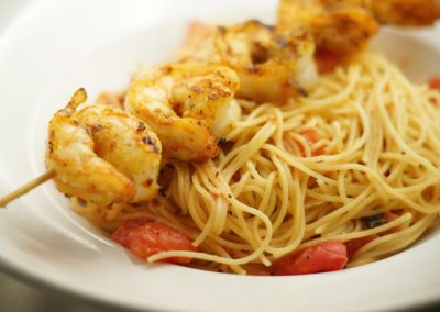 Scuzzi's Skewered Shrimp